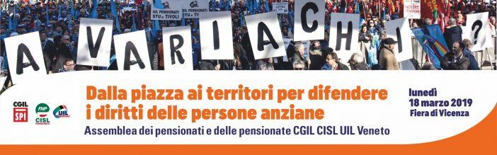 18 marzo 2019: attivo unitario pensionati Cgil, Cisl Uil