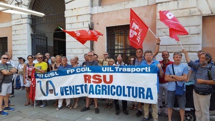 Veneto Agricoltura: presidio a Venezia