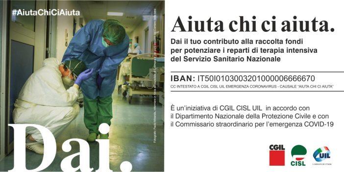 Coronavirus: Cgil, Cisl e Uil, parte sottoscrizione per sostenere strutture terapia intensiva