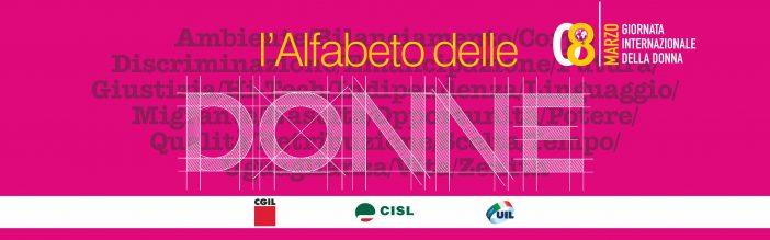 8 marzo: l'Alfabeto delle Donne di Cgil, Cisl e Uil